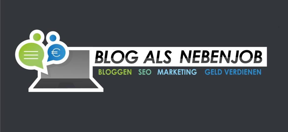 Blog als Nebenjob Logo Bloggen SEO Marketing Geld verdienen