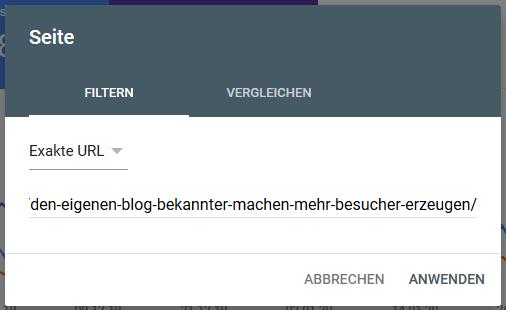 Console Filter nach URL