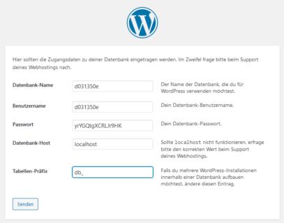 WordPress Tutorial deutsch - Datenbank