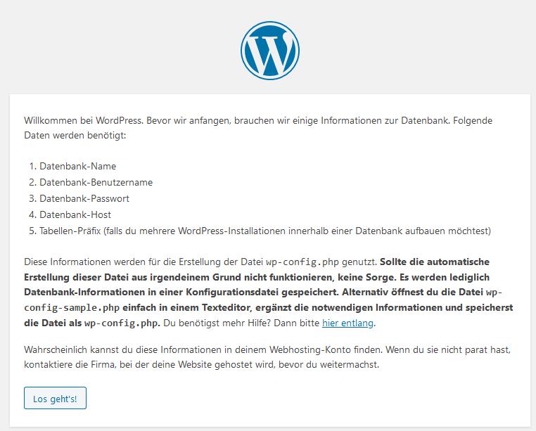 WordPress Tutorial deutsch - Start