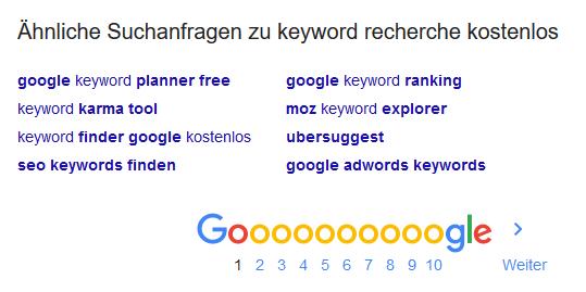 Ähnliche Suchanfragen zu Keyword Recherche kostenlos