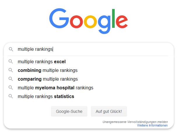 Google Auto Vervollständigung