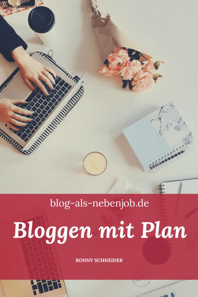 Pinterest Bloggen mit Plan