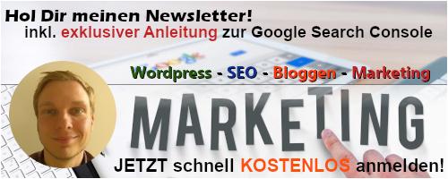kostenlose Newsletter Anmeldung mit Anleitung zur Google Search Console