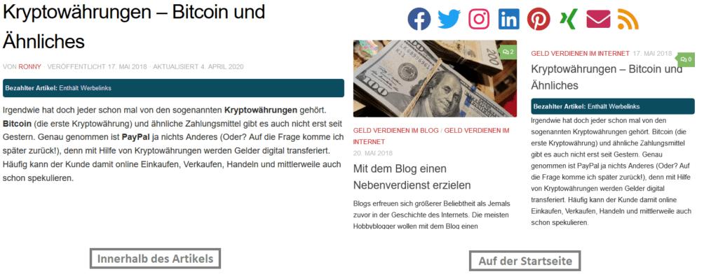 werbung schalten - bezahlte artikel
