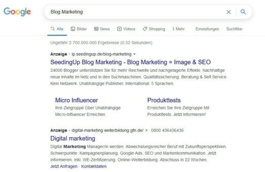 Google Werbung Kennzeichnung
