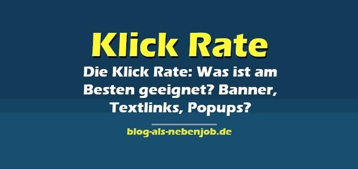 Klick Raten - Banner Textlinks oder lieber Popups