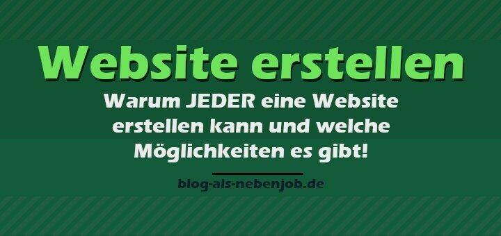 Website erstellen - Warum JEDER eine Homepage bauen kann
