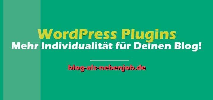 WordPress Tutorial - Durch Plugins mehr Individualität