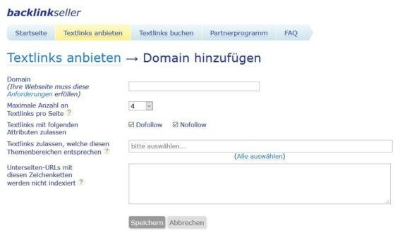 Backlinkseller - Mit Backlinks Geld verdienen