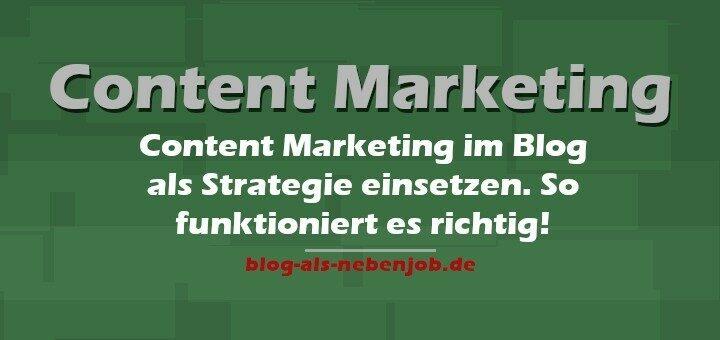 Content Marketing im Blog umsetzen
