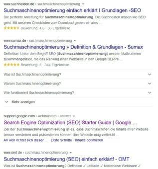 Konkurrenz mittels Google analysieren