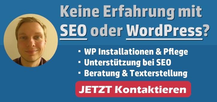 Meine Leistungen im Überblick - SEO & WordPress Beratung