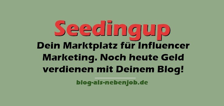 Seedingup - Marktplatz für Influencer Marketing