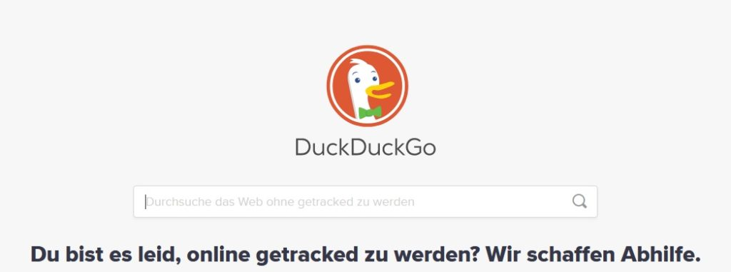 Stop Tracking mit DuckDuckGo