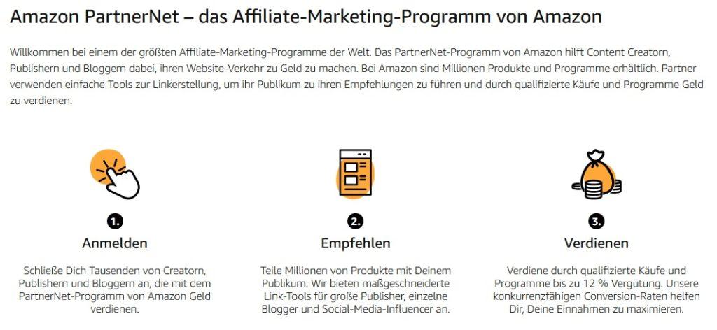 Amazon PartnerNet - Affiliate Marketing mit Amazon