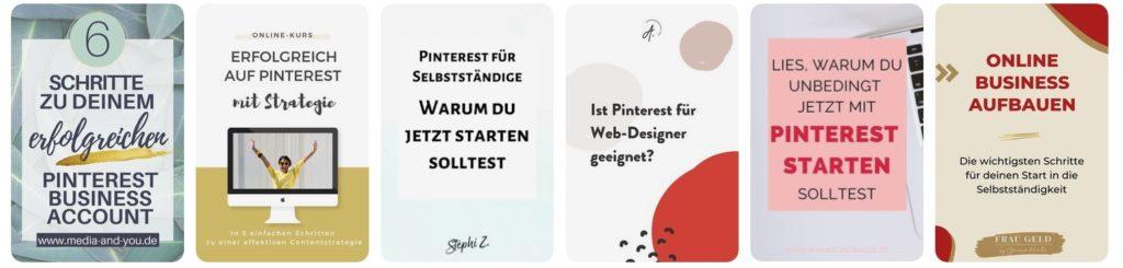 Suche nach erfolgreichem Pinterest Marketing