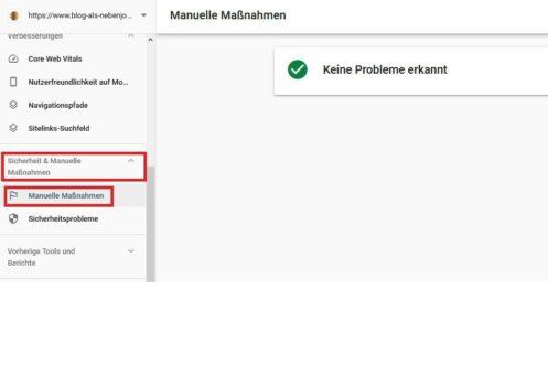 Google Search Console Abstrafungen prüfen