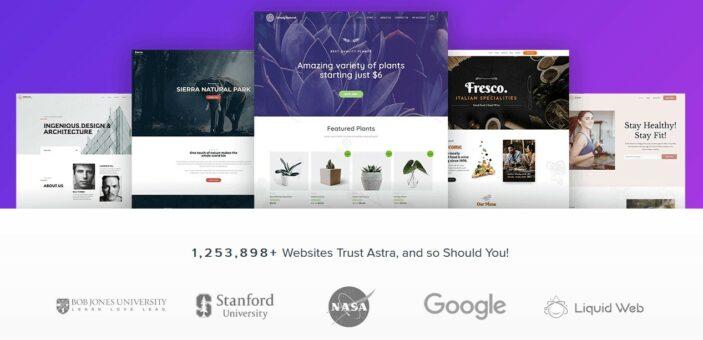 Astra WordPress Theme - schön und schlank; Quelle: Astra Webseite