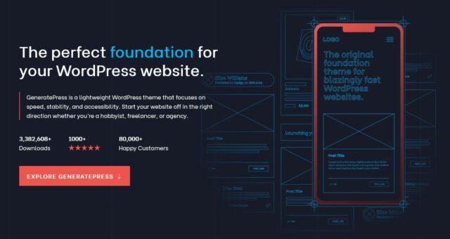 Generatepress WordPress Theme; Generatepress Webseite