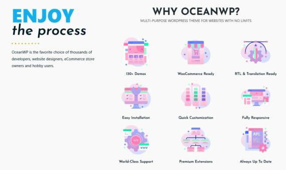 Ocean WP WordPress Template; Quelle: Ocean WP Webseite