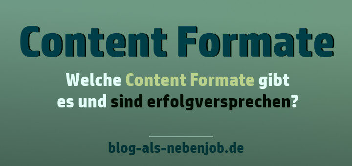 Content Formate die Erfolg versprechen